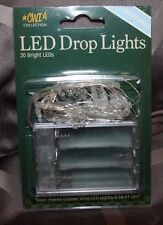 LED Battery Operated Timer Snowflake Lights with 20 lights - New Item!!!