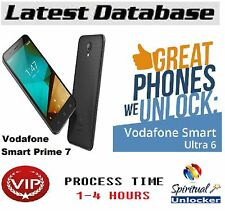 VODAFONE SMART PRIME 7 VDF600 *   UNLOCK CODE World wide database
