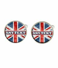 Personalised Union Jack Mens Cufflinks Ideal Birthday Fathers Day Gift C81