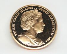 XXVIII Olympics 2004 Virgin Islands Elizabeth II Large Copper Proof Coin