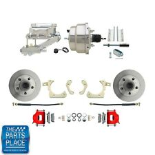 "1955-58 GM Full Size Disc Brakes W/ 8"" Dual Chrome Booster Conversion Kit 311R"