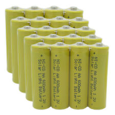 20 AA Rechargeable Batteries NiCd 600mAh 1.2v Garden Solar Ni-mh Light Nimh Lamp