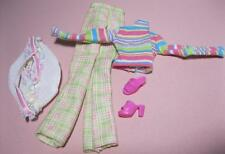 VTG 1998 COOL SITTER Adult Teen Skipper Clothes PLAID PANTS SHOES baby tote