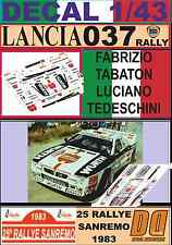 DECAL 1/43 LANCIA 037 RALLY F.TABATON R.SANREMO 1983 (03)