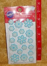 Snowflakes,Edible Cupcake Toppers,Icing Decorations,Wilton,710-6034,Holiday