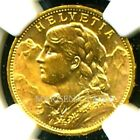 SWITZERLAND 1914 B GOLD COIN 20 FRANCS * NGC CERTIFIED GENUINE MS 64 * AWESOME