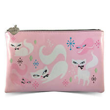 New FLUFF Makeup Cosmetic Travel Bag SWANKY KITTEN CAT KITTY Pink Pouch Purse