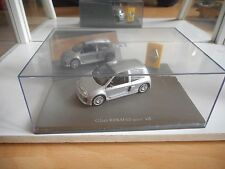 Universal Hobbies Renault Clio Sport V6 in Grey on 1:43 in Box