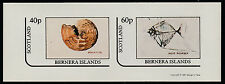 GB Locals - Bernera (1106) 1981 FOSSILS imperf sheetlet unmounted mint