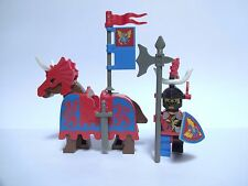 Lego figurine chevalier dragon castle knight château