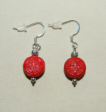 NEW, Cute BRIGHTON 'China Tale' lucky LONGEVITY charms on custom .925 earrings !