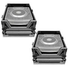 ProX XS-CD Large Format Tabletop CD/CDJ Player Flight Case Pair