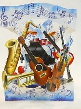 MUSICAL INSTRUMENTS Greeting Card 3-D Interactive Swing by Santoro Graphics 88
