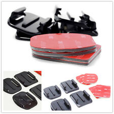 8Pcs Flat Curved Adhesive Mount Helmet Accessories For Gopro Hero 4/3+ Kit newly