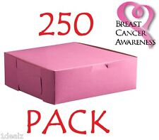 "250 PINK Bakery Cookie Pastry Box 6"" x 4 1/2"" x 2 3/4"" Made in USA Bundle Pack"