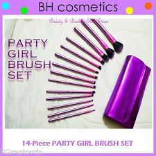 NEW BH Cosmetics 14-Piece PARTY GIRL Brush Set w/Purple Case FREE SHIPPING