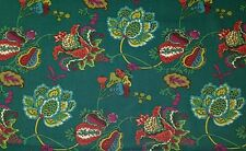 RICHLOOM LEBEAU TEAL BLUE GREEN FLORAL BASKETWEAVE FURNITURE FABRIC BY YARD