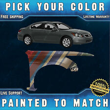 NEW Painted To Match - Passengers Front Fender for 2008-2012 Honda Accord Sedan