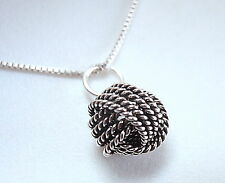 Small Bali Knot Necklace 925 Sterling Silver Corona Sun Jewelry