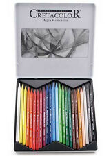Cretacolor Aqua Monolith Woodless Watercolour Pencils - 24 Tin