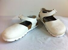 Birkenstock Alpro Sandals White Synthetic Leather Size 36