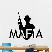 Mafia Wall Decal Gangster Godfather Bandit Kids Vinyl Sticker Decor Mural 119zzz