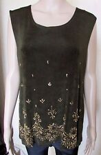 NWT DEEP KHAKI SHIMMER TUNIC STYLE TOP LARGE/XL CHEST 40/42''