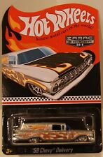 Hot Wheels WALMART 2016 Mail In '59 Chevy Delivery Redline Real Riders ZAMAC #6