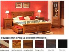 Wooden  King Size Double Bed with 2 storage drawers under mattress !!