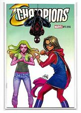 CHAMPIONS #1 VOL 2 - Wonderworld Exclusive Siya Oum Variant - Marvel Comics!