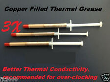 3pc Copper Filled Thermal Compound Paste Grease Syringe gold color
