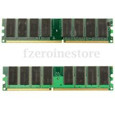 2GB 2x1GB DDR 266Mhz PC 2100 2011u Dimm Memory Memoria RAM 184pin Low Density PC