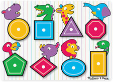 MELISSA & Doug vedere all' interno di legno Peg PUZZLE / PUZZLE forme Toddler Toy / regalo bn