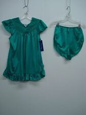 USA Made Nancy King Lingerie Baby Doll w/ Tap Pant Sleepwear 2X Emerald #687Q