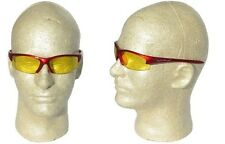 Smith & Wesson Equalizer Glasses Red Frame - Amber Lens