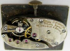 used vintage Swiss oval Watch Movement P. Ditisheim & Solvil 16 j. for part ...