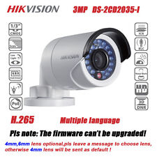 Hikvision Waterproof DS-2CD2035-I 3MP HD POE IR Bullet Network IP Mini Camera