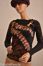 Pull noir motifs SAVE THE QUEEN  taille L  ref  101655