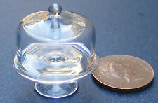 1:12 Scale Glass Cake Stand + Cover Dolls House Miniature Food Accessory G20S