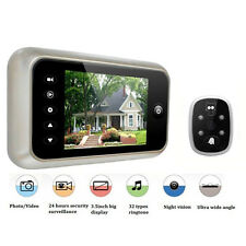 """3.5"""" Wireless Video Door Eye Digital 120° Peephole Doorbell Security IR Camera"""