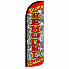 REMODEL KITCHEN BATHROOM Windless Swooper Feather Flag Tall Banner Sign 3' Wide