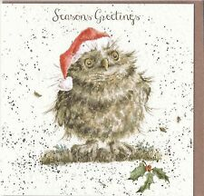 "Country Set Christmas  Card Wrendale Designs  ""Seasons Greetings "" Owl"