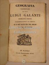 Luigi Galanti, GEOGRAFIA ELEMENTARE 1859 Napoli Pedone Lauriel Sfera Armillare