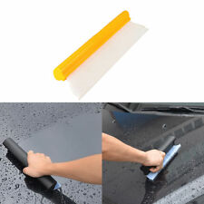 "Yellow Car Window Film Scraper Water Tool Cleaner Tint Clear 14"" Silicone Blade"