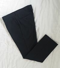 NEW! SELECTED HOMME  black pinstripe 50% wool suit trousers in size 54