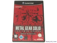 "# metal gear solid-the twin ""Nintendo GameCube/GC jeu-top #"