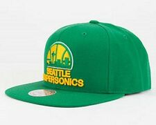 MITCHELL & NESS NBA SEATTLE SUPERSONICS SNAPBACK HAT/CAP 100% AUTHENTIC NEW!!