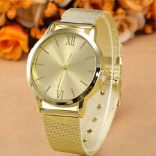 Luxury Quartz Analog Watch Womens Gold Stainless Steel Mesh Wrist Ladies Watches