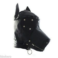 *** ADULT DOG GIMP BONDAGE MASK HOOD SENSORY DEPRIVATION SM SEX FETISH SLAVE ***