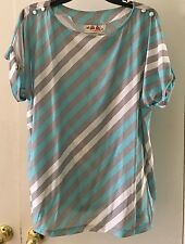 AMPLE TOGS  California Vintage Pretty & Plump Striped shirt New with Tags